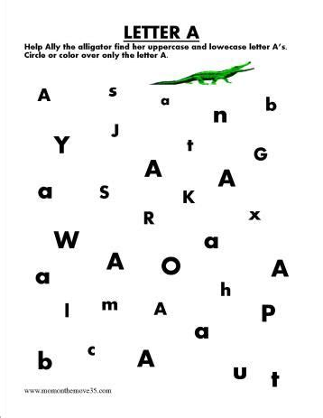alphabet letter search alphabet letters activities and
