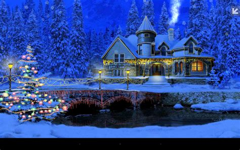 Snowy Cottage Animated Wallpaper - snowy cottage screensaver festival collections