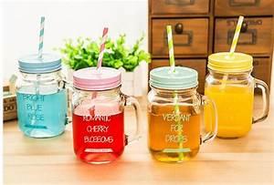 Mason Jar Paille : acheter 16 oz mason jar boisson de jus de ~ Teatrodelosmanantiales.com Idées de Décoration