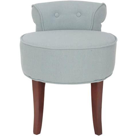 silver vanity stool safavieh silver blue vanity stool mcr4546b the