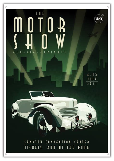 deco inspired motor show poster on behance