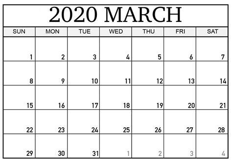 editable march  calendar  print  word blank