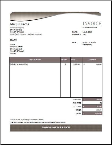 performance invoice   httpwww