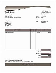 Music performance invoice download at http www for Performance invoice template