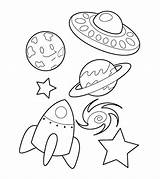 Coloring Spaceship Toddlers Articles sketch template