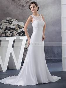sleeveless lace and taffeta bridal gown in princess cut With princess cut wedding dress