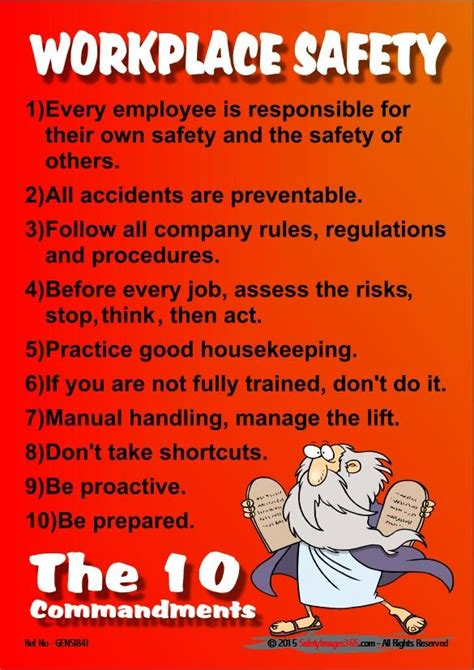 general safety poster workplace safety