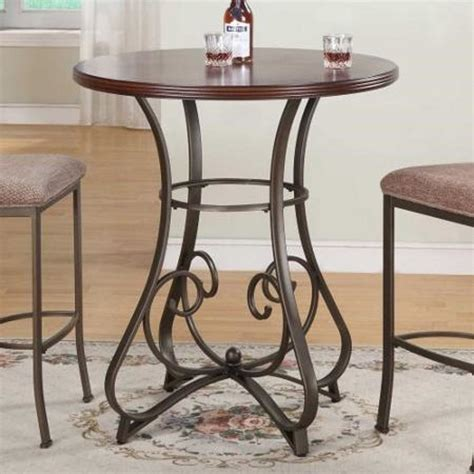 30 inch round counter height table 3 piece pub table set square red cushion stools 30 inch