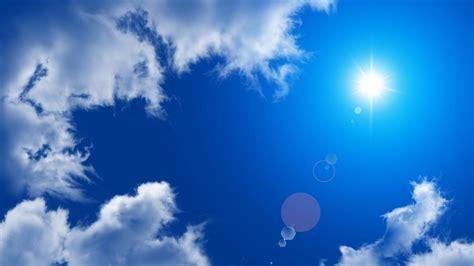 langit biru kertas dinding hd