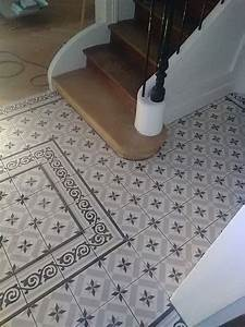Faire Briller Des Carreaux De Ciment : r novation d 39 une entr e en carrelage imitation carreaux ciment nicolas guerout ~ Melissatoandfro.com Idées de Décoration