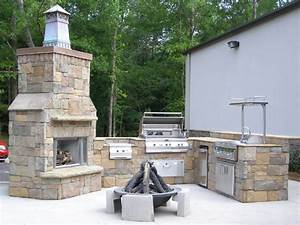 outdoor kitchens firemagic gas grills lake oconee With outdoor kitchen and fireplace designs