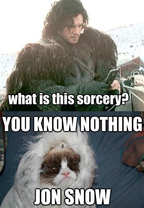 Grumpy Cat Snow Meme - jon snow tries technology the meta picture