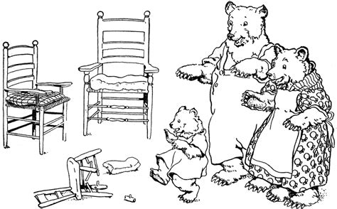 Chair Sequence Printable by Three Bears And Chairs Clipart Etc
