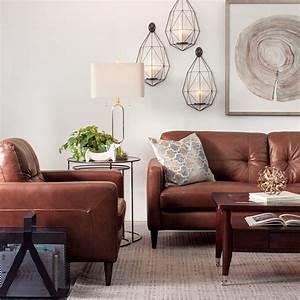 decorating with brown leather furniture tips for a With furniture for living room with white walls