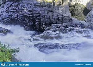 Beautiful, Fall, Color, Of, Montmorency, Falls, Stock, Image