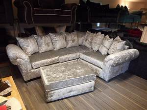 silver couches design decoration With silver velvet sectional sofa
