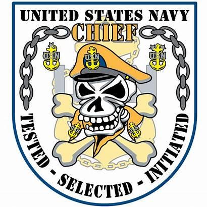 Chief Navy Clipart Transparent Outline Skull Usn
