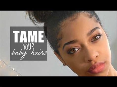 how to make baby hair carefree bun those baby hairs