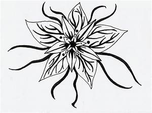 Black and White Flower Design | Many Flowers