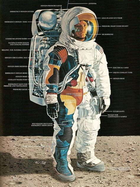 Apollo Space Suit Diagram - Pics about space