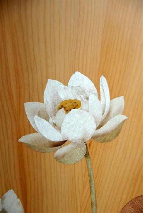 marquetry lotus   commode tomoko hasuo