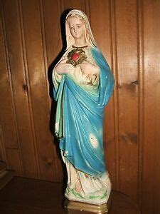 vintage immaculate heart  mary mother catholic statue