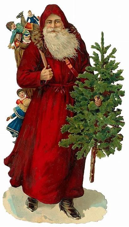 Santa Victorian Claus Antique Bells Clip Cut