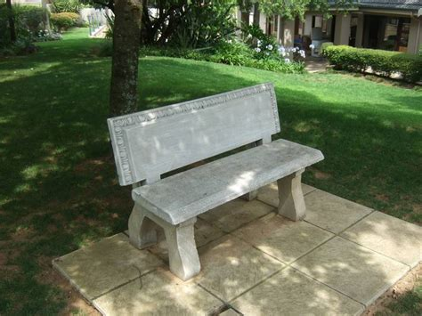 outdoor concrete benches treenovation