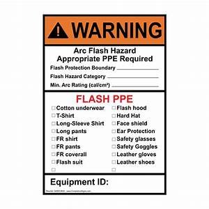 Electrical safety signs and labels arc flash for Arc flash warning signs