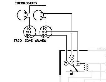 help wiring honeywell aquastat l8148e and 2x taco zone valves heating help the wall