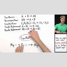 Classifying Types Of Chemical Reactions Practice Problems Youtube
