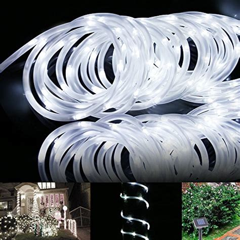 solar lighting rope lawn garden lights led rope