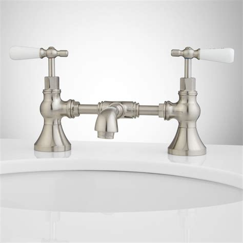 faucet for sink in bathroom monroe bridge bathroom faucet porcelain lever handles