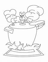 Cooker Pressure Coloring Pages Getdrawings Stove Student Mature sketch template