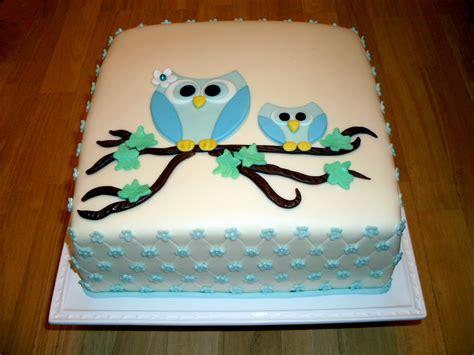 Owl Baby Shower Sheet Cakes