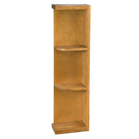 kitchen cabinet end shelf home decorators collection lewiston toffee glaze assembled 5395