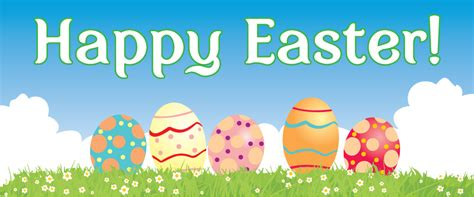 happy easter banner clipart   cliparts