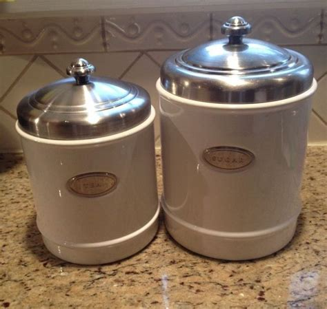 white kitchen canister sets ceramic williams sonoma white ceramic canister set of 2 sugar