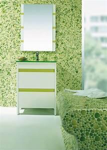 salle de bain mosaique vert galets With salle de bain mosaique verte