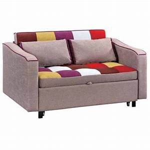 Sofa Bed With Arms Patchwork