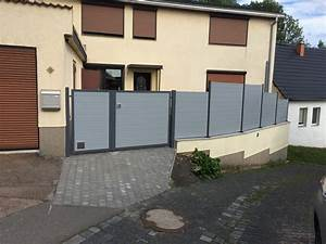 Sichtschutzzaun Aus Kunststoff : sichtschutz und hoftor aus kunststoff in anthrazit grau ~ Watch28wear.com Haus und Dekorationen