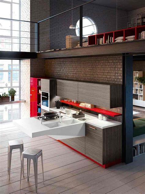 cuisine petit espace design cuisine ouverte sur salon très design de snaidero
