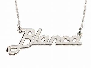 925 sterling silver block letters name necklace With name necklace individual letters