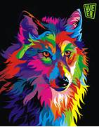 Art-Spire  Source d inspiration artistique   Colorful vector animals      Colorful Wolf Painting