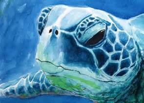 Sea Turtle Watercolor Art