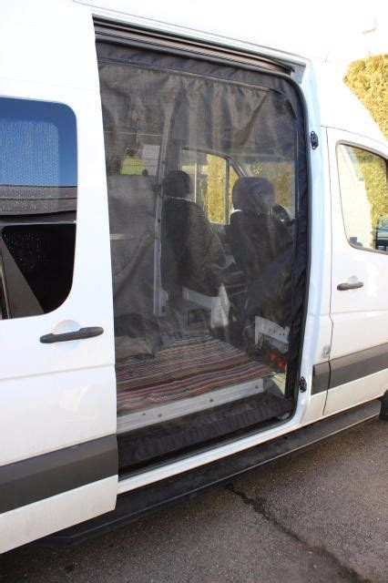 sprinter van slider door insect screen camper van