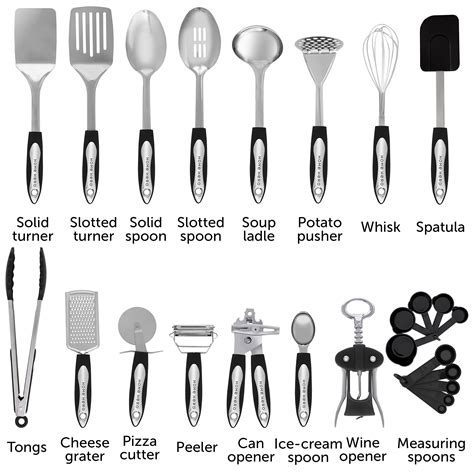 utensils cooking tool kitchen cookware spatula stainless utensil steel gadgets nonstick gift homehero amazon