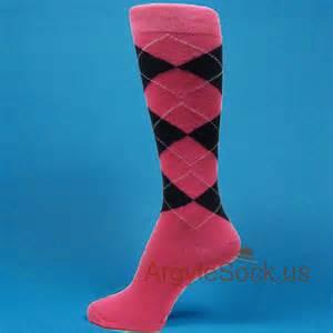 Navy and Pink Argyle Socks