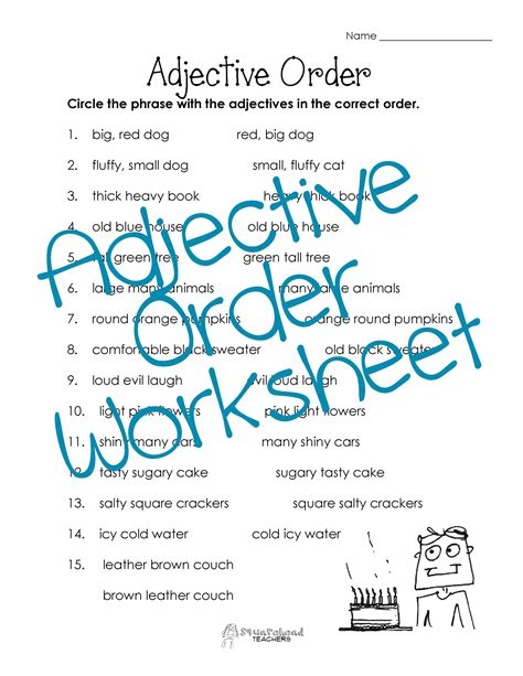 worksheets on adjectives for grade 4 with answers