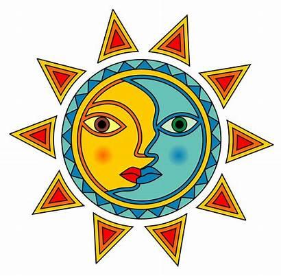 Moon Sun Clip Clipart Designs Latin Cliparts